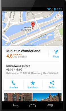 Mobile Darstellung Google My Business