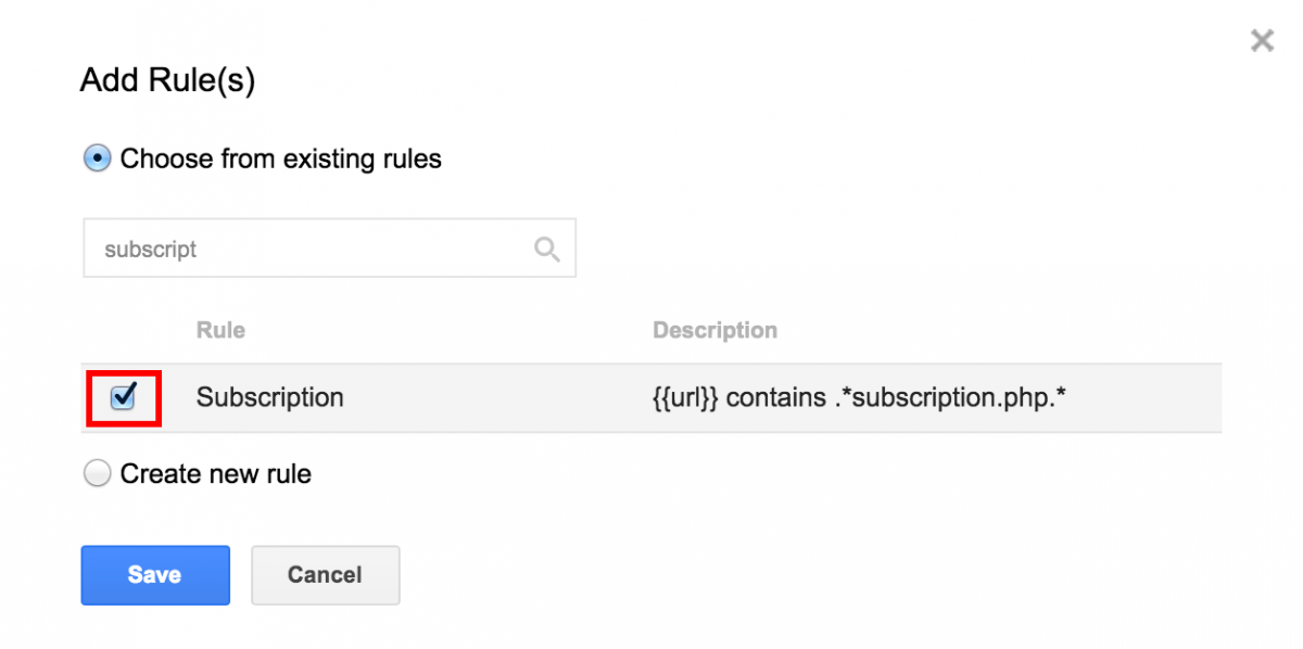 Google Tag Manager Add Firing Rule