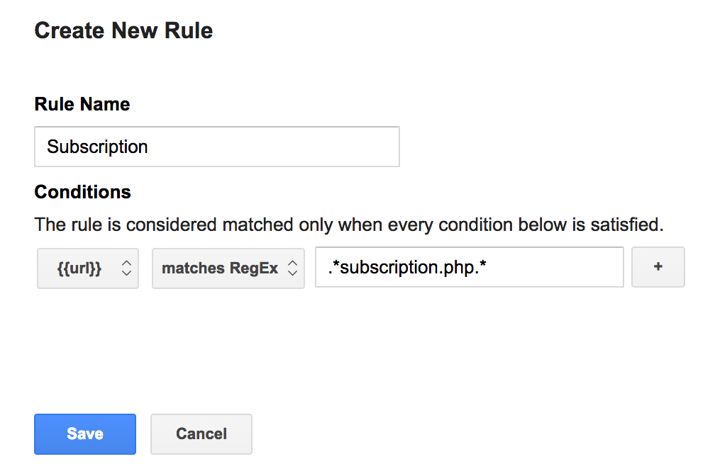 Google Tag Manager Rule Creation