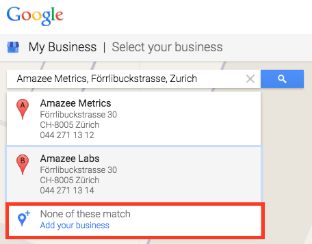 Google My Business Add your business