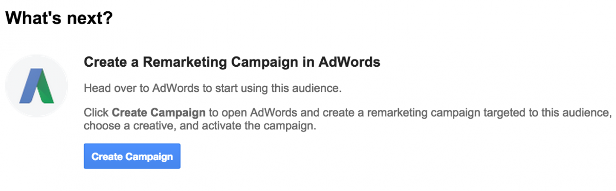 Create a Remarketing Campaign in AdWords