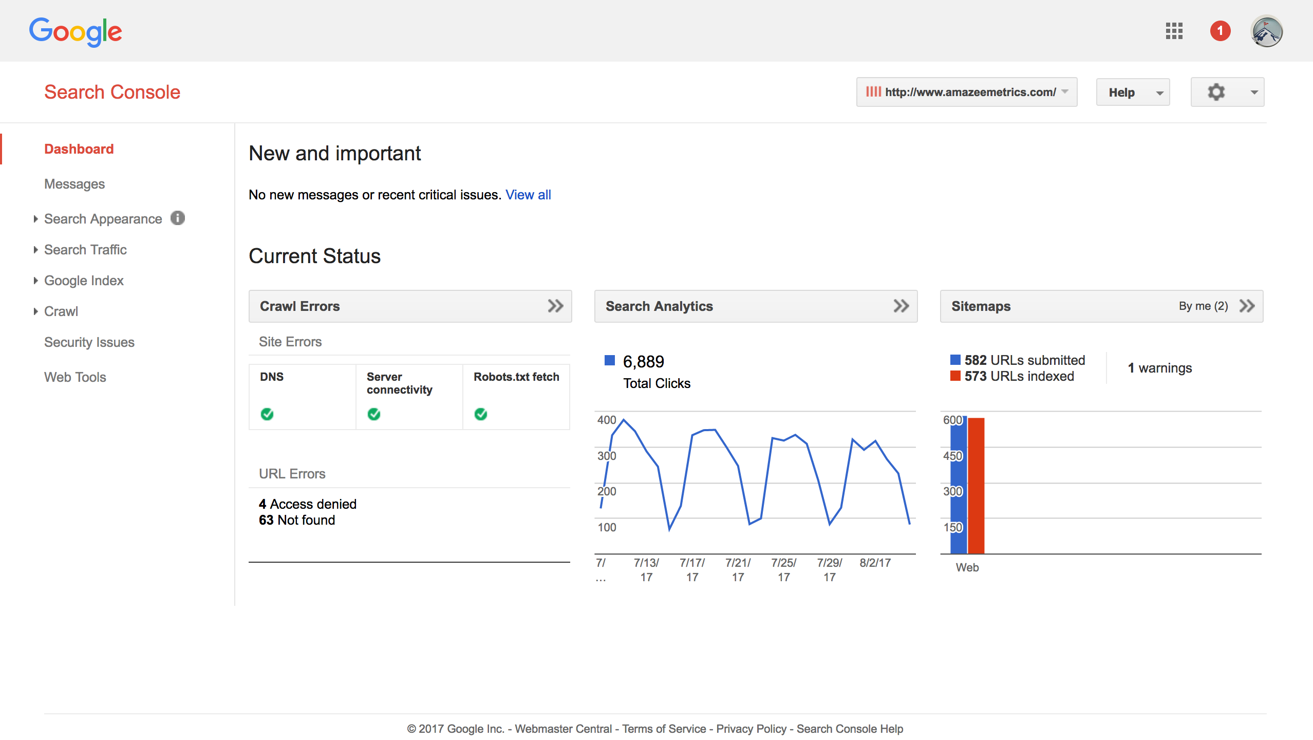 Verifiy your Property in the Google Search Console by Amazee Metrics