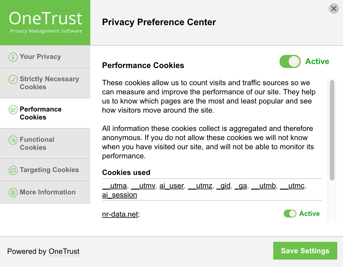 Cookie Consent Solution - Cookie Management Center