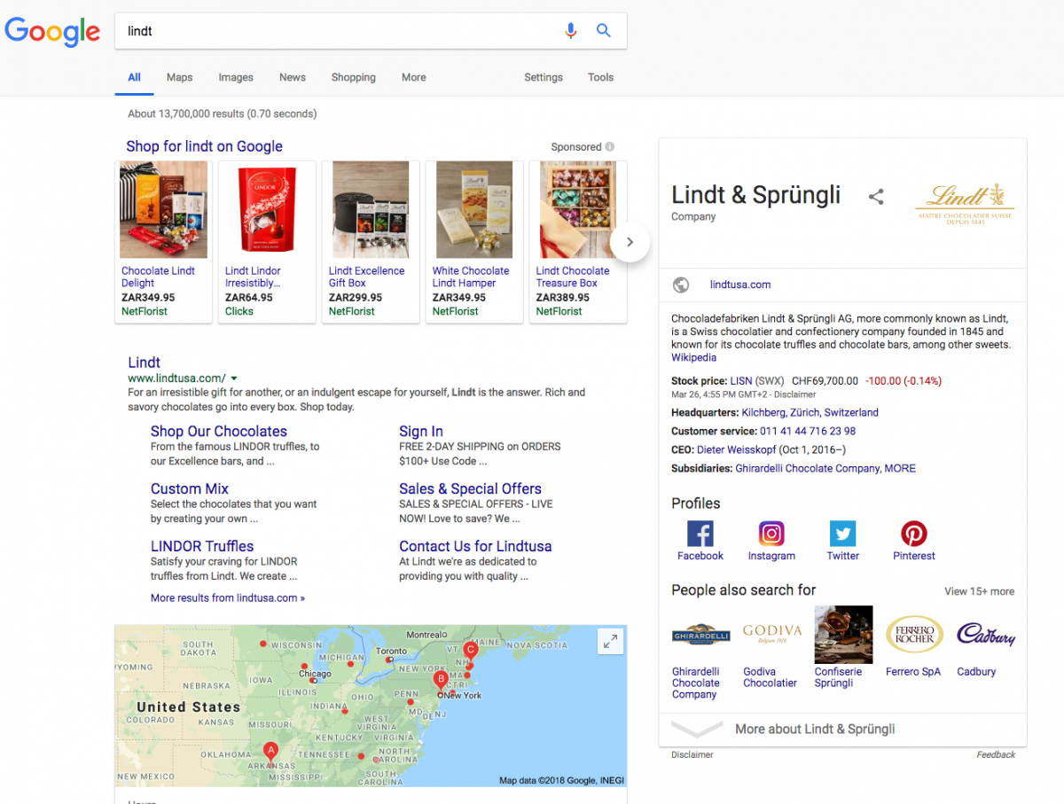 With an everchanging layout of the search result pages, Google can cater for different kinds of User Intent.