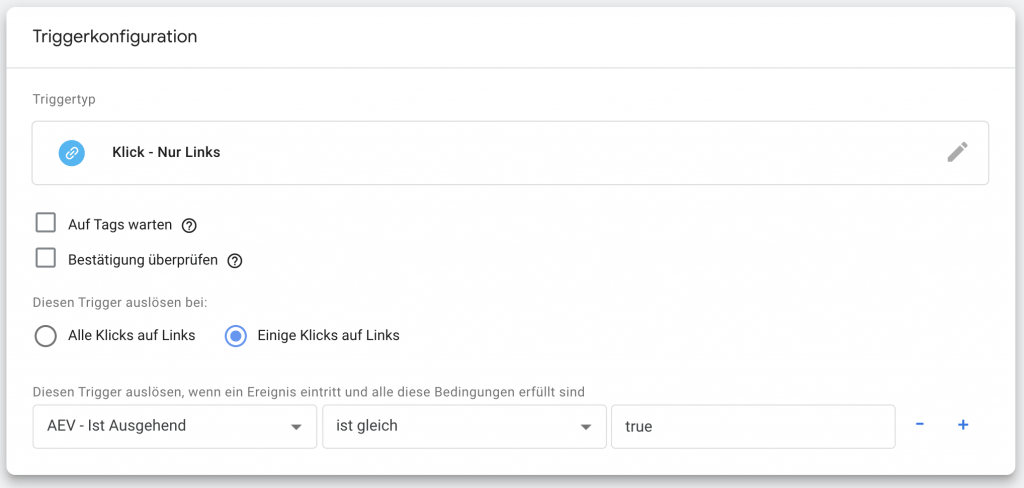 Trigger Konfiguration Google Tag Manager