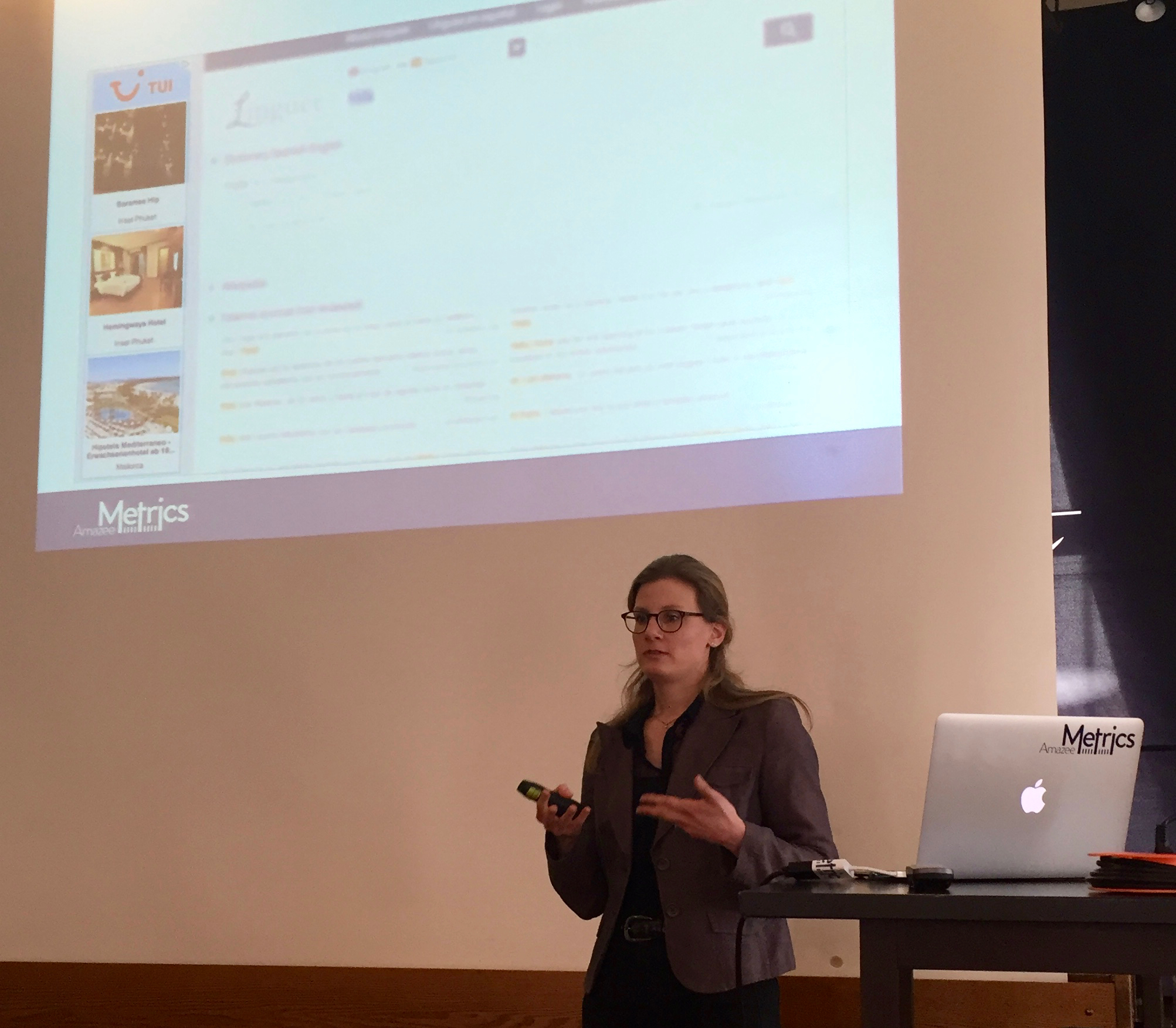 Christina Meyer giving her presentation at the AdWords Conference